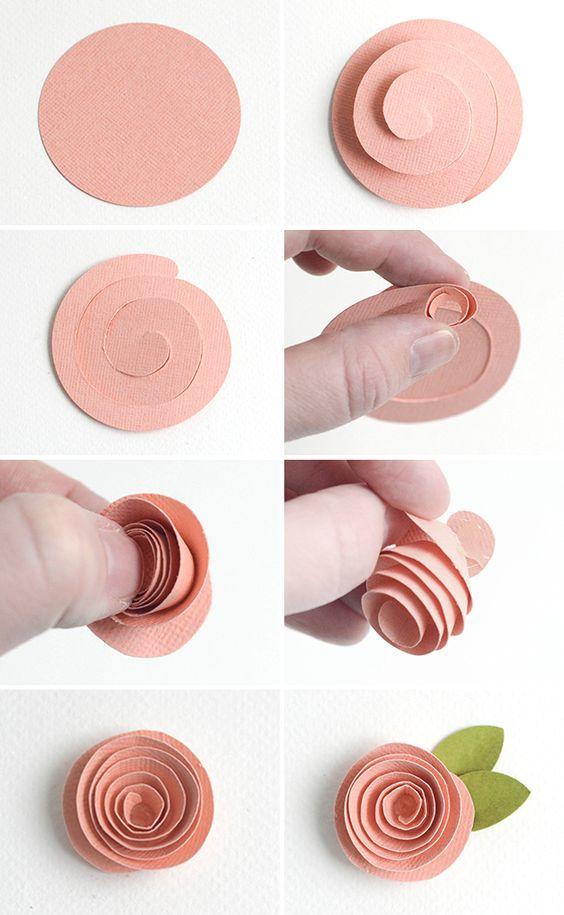 Výroba papírové růžičky ze spirály