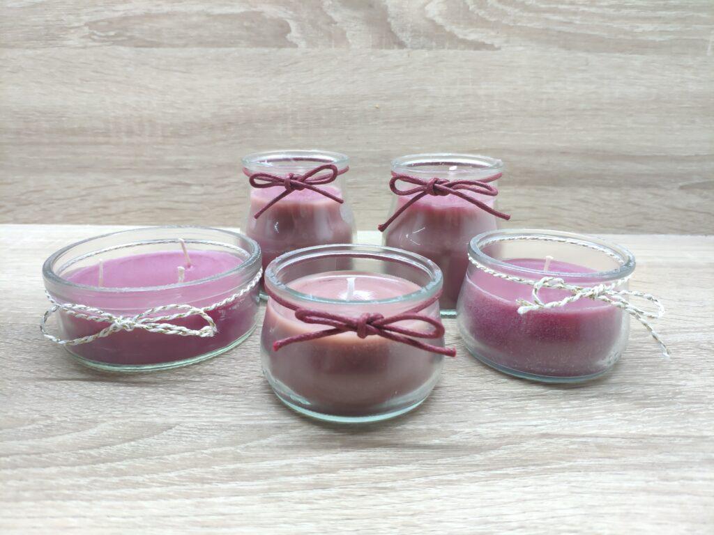 Domácí výroba svíček ve skle
