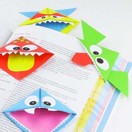 Tvoření s dětmi: Papírové rohové záložky do knížky