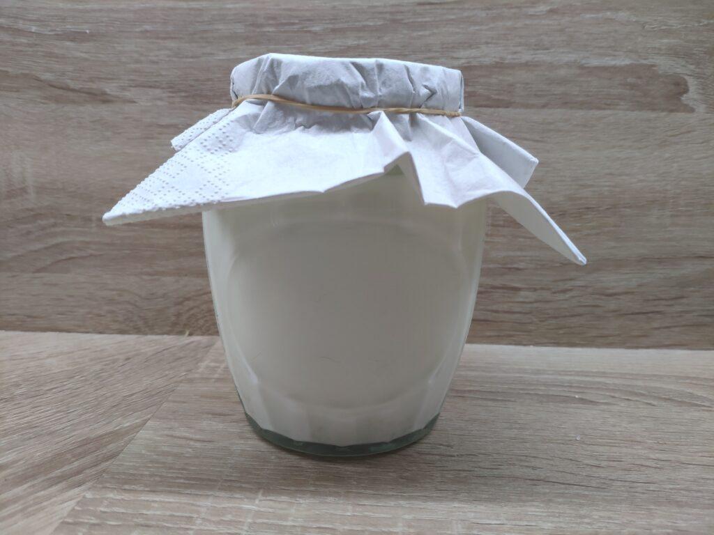 Příprava kefíru z mléka a tibetské houbičky