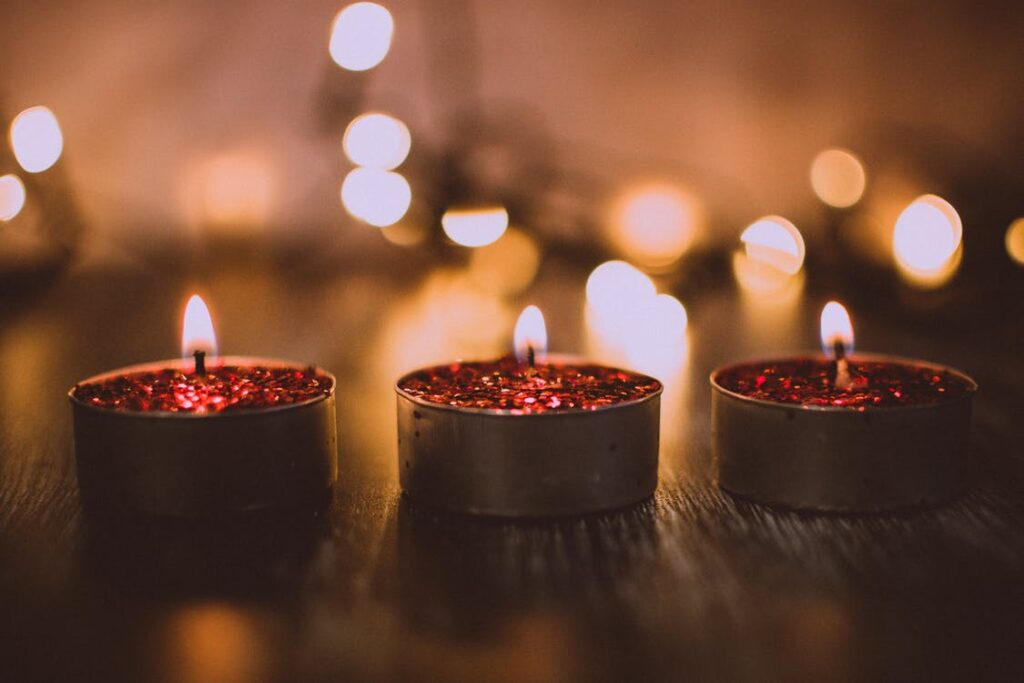vánoční čajové svíčky